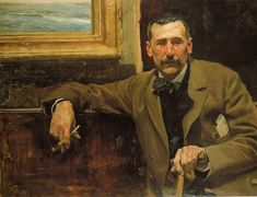 Joaquin Sorolla Self Portrait  by Joaquin Sorolla
