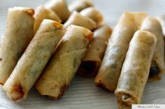 THERMOMIX Spring rolls and my Vietnamese dipping sauce. Thermomix and non-thermomix versions Vegetable Recipes, Vegetarian Recipes, Cooking Recipes, Savory Snacks, Savoury Dishes, Wrap Recipes, Asian Recipes, Vietnamese Recipes, Bellini Recipe