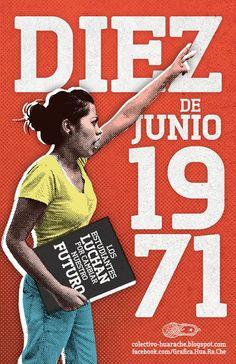 """El 10 de junio de 1971 hubo una manifestación de estudiantes en la cuidad de México. Esta fue reprimida por la policía y por un grupo paramilitar llamado los """"Halcones"""". Este suceso es conocido como """"el halconazo""""."""