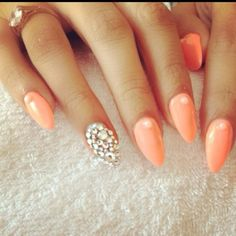 pretty peach with bling