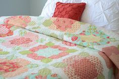 Marmalade Flower Girl Quilt Kit by Bonnie and Camille for Moda Fabrics. $120.00, via Etsy.