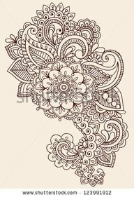 Lace Flower Tattoo | Henna Mandala Flower Tattoo Design