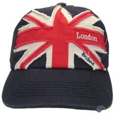 Mens Union Jack London England Embroidered Baseball Cap