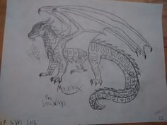The seawings is finish :) Its Marina My best friends :3 My dragon <3