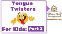 Funny tongue twisters for kids that are easy, short, fun and simple. A series of only the best silly tongue twisters for kids and children in English. Funny Tongue Twisters, Tongue Twisters For Kids, Kids Part, English Study, English Vocabulary, Riddles, Verses, Disney Characters, Fictional Characters