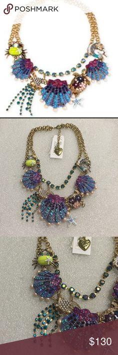 Betsey Johnson necklace Selling to buy Betsey pieces I need. This is from the nautical collection. The necklace is gold tone. There are encrusted rhinestone clams, crab, fish, turtle, starfish. New Betsey Johnson Jewelry Necklaces