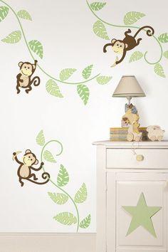 Monkeying Around Wall Art Kit by WallPops! Kids on @HauteLook