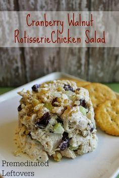 Cranberry Walnut Rotisserie Chicken Salad Recipe - Here is a quick and easy chicken salad recipe using a rotisserie chicken, cranberries, and walnuts.