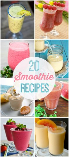 20 smoothie recipes - perfectly refreshing treats for those hot summer days! {…