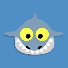 printable shark- fee for whole mask collection