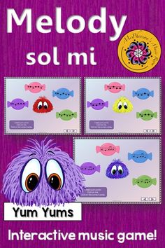 Melody Game! Your elementary music students are going to love this interactive game. Perfect for aurally identifying melodic patterns (sol mi). Get ready for the giggles! Assessment included!