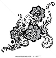 Element of Flower ornament. Vector - stock vector