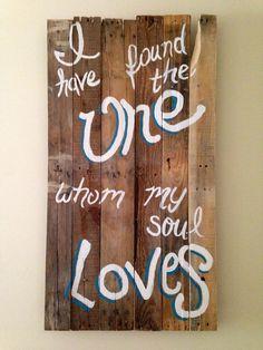 Wedding decor! ||Song of Solomon 3:4||   Custom hand Painted Sign