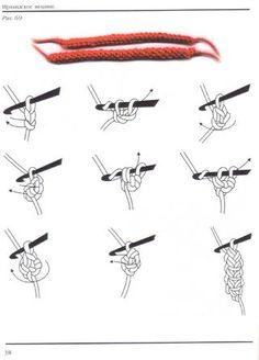 Crochet cord...mane for Rainbow Dash