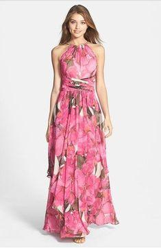 Aliexpress.com: Comprar Maxi de impresión verano mujeres gasa vestido flojo 2015 sin mangas sexy vestido largo más el tamaño caliente de la venta de Vestidos fiable proveedores en Valuefashonshop