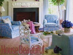 Quadrille Bali II fabric - love those chairs!
