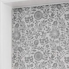 Scandi Floral Grey Daylight Roller Blind | Dunelm Resin Coating, Roller Blinds, Home Accessories, Floral Design, Tapestry, Colours, Grey