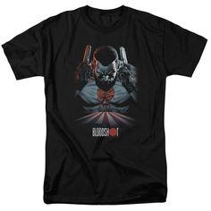 Bloodshot Blood Lines on Black T-Shirt