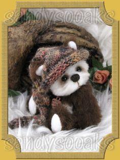 SANDYSOOAKS Artist Teddy Bear TEVIN Bear 3 Inches OOAK by SANDY 3-day-auction