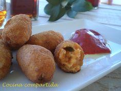 Cocina compartida: Croquetas de bacalao y pimientos del piquillo