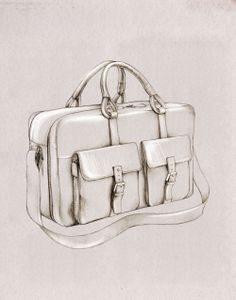 Fashion illustration - handbag drawing // Caroline Andrieu