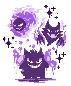 Ghosties by windwakers on DeviantArt Haunter Pokemon, Ghost Pokemon, Pokemon Oc, Pokemon Tattoo, Pokemon Fan Art, Cute Pokemon, Gengar Tattoo, Leprechaun, Gengar Evolution