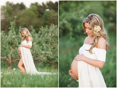 Short Sleeve Maternity Gown / Cameron Gown por SewTrendyAccessories