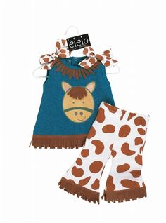 Baby Cowgirl Horse Western Outfit