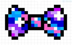 Galaxy Perler bead Bow