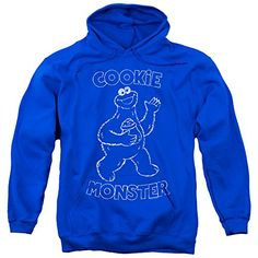Sesame Street Simple Cookie Mens Pullover Hoodie  Sesame Street is one of the all time classic learning television shows that incorporates lovable puppets for teaching tools. Whether you want your child to learn early math, spelling, grammar or good social skills, Seasame Street is there to help you child learn in a super fun and easy way for them to remeber. Not only that, how many of these characters bring us back to our childhood's and the great memories we had? You will love this..