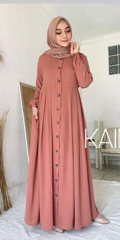 Frock Fashion, Modesty Fashion, Abaya Fashion, Fashion Dresses, Muslim Women Fashion, Islamic Fashion, Mode Abaya, Mode Hijab, Muslimah Clothing