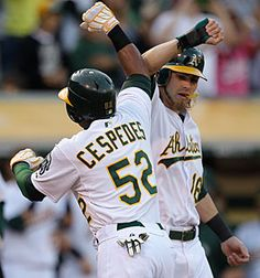 Yoenis Cespedes and Josh Reddick did much of the bashing in #Oakland's offense this year. #Athletics #Baseball