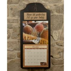 add some primitive style to your wall calendar with this wooden star calendar holder distressed