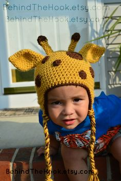 Crochet Giraffe Hat, Giraffe Hat, baby giraffe hat, Newborn Giraffe Hat, Boys Crochet Hat, Girls Crochet Hat, Newborn Photo Prop, Kids hat on Etsy, $25.00
