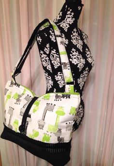 Hey, I found this really awesome Etsy listing at https://www.etsy.com/listing/166786944/oversized-diaper-bag-giraffe-diaper-bag