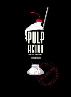 Pulp Fiction - fan art - $5 dollar shake (just milk and ice-cream - no bourbon)