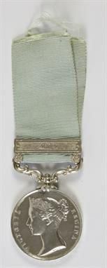 Lot 489: Army of India Medal, 1799-1826. Estimate £800 - £1,000. Sale date 18th June 2014 www.afbrock.co.uk