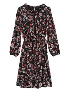 Print Tie-Waist Mini Dress | Banana Republic Fall Fashion Trends, Fashion News, Autumn Fashion, Summer Outfits, Summer Dresses, Cozy Outfits, Stitch Fix Dress, My Wardrobe, Banana Republic