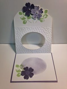 Flower Shop, Tri-Fold Window Technique Card, Stampin' Up!, Rubber Stamping, Handmade Cards