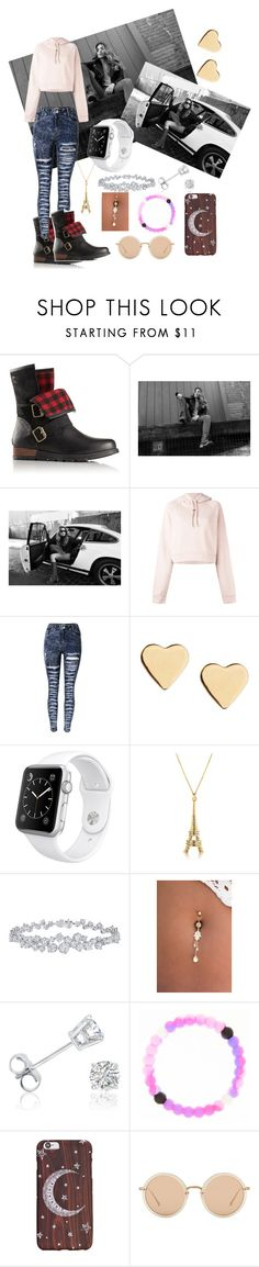 """""""Kick Up the Leaves (Stylishly) With SOREL: CONTEST ENTRY"""" by liyahbear753 ❤ liked on Polyvore featuring SOREL, Off-White, Lipsy, Apple, Harry Winston, Amanda Rose Collection, claire's, Linda Farrow and sorelstyle"""