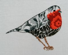Robin - Available from Create in Stitch | Country Bumpkin, Australia. Nicola JarvisProduct Description Heavy upholstery cotton with design transferred and kit instruction booklet with needle. Threads are not included in kit.