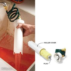 The Rejuv-a-Roller is so easy to use that we don't mind cleaning roller covers. Instead of buying cheap roller covers and throwing them away, we can buy top-quality covers and reuse them. Here's how it works: Slip the roller cover into the tube and plug the end. Then connect the hose to a faucet and turn on the water. When the water runs clear from the bottom holes, the roller is clean. If you own a roller spinner, you can speed up drying and fluff the roller nap by giving it a quick spin…
