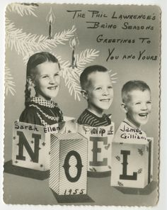 lawrence family photo card 1955 ephemera collection visual studies collection manuscripts and special - Best Holiday Cards