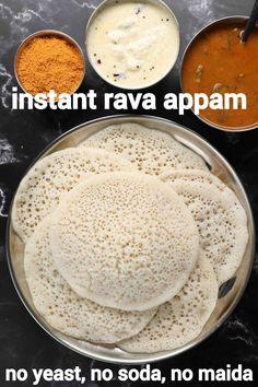Appam Recipe, Chaat Recipe, Curry Recipes, Snack Recipes, Cooking Recipes, Breakfast Recipes With Rava, Comida India, Hallowen Food, Paratha Recipes