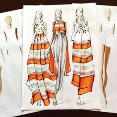 Amazing the last @delpozo collection by @josepfontc rtw 2017#nyfw #newyorkfashionweek #fashion #art #artist #fashiondrawing #fashionsketch #fashionillustration #fashionillustrator #fashionillust #fashionsketchbook #delpozo #josepfont #illustration #illustrator #winsorandnewton #copic #copicmarkers #copicart #prismacolor #orange