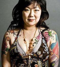 peony tattoo, margaret cho
