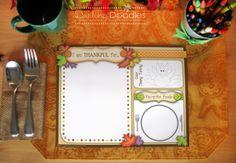 Free printable!! Thanksgiving Placemats