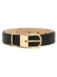 Burberry classic belt, Women's, Size: 90, Black, Calf Leather/metal