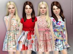 Designer Dresses Collection P21 by lillka at TSR via Sims 4 Updates
