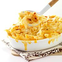 Our favorite mac and cheese.  I use swiss, not gruyere and then top with plain bread crumbs and dot with butter!